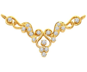 Fairy's Touch 0.45ct Diamond 18kt Gold Necklace Pendants