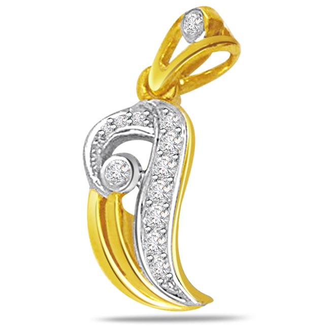 Fall in love Diamond Pendants