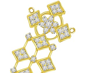 Falling Stars 1.04ct Diamond Love Pendants -Designer Pendants