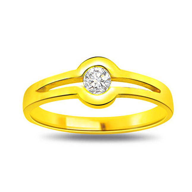 Fashionate Diamond Fine 0.15 ct Diamond Solitaire rings -18k Engagement rings