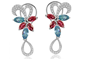 Feminine Grace -0.56ct Diamond Earrings