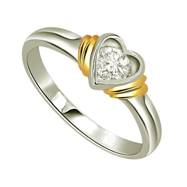 Fine 0.15 cts Diamond Heart Shape rings