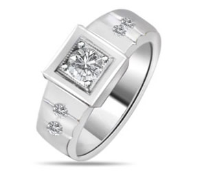 Fine Diamond rings in 14K White Gold -Designer