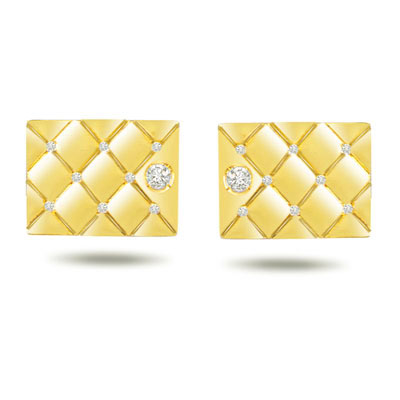Fire & Ice VS Clarity Diamond Cufflinks -Cufflinks