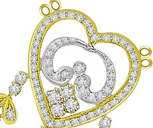 Flawless Beauty 1.61ct Diamond Love Pendants