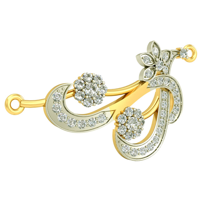Floral Life Gold & Diamond Pendants DN437 Necklaces