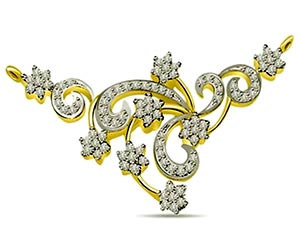 Floral Fantasy 2.00 cts Diamond Necklace Pendants