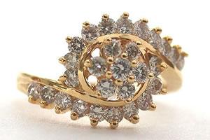 Floral Fragance 0.75 ct Flower shape Diamond rings