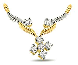 Floral Funda 0.20 cts Diamond Necklace Pendants Necklaces