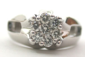 Floral Rediance 0.50 ct G/ VVS1 Diamond Flower Shape rings -Designer