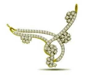 Flower Blossom1.00 cts Diamond Necklace Pendants Necklaces