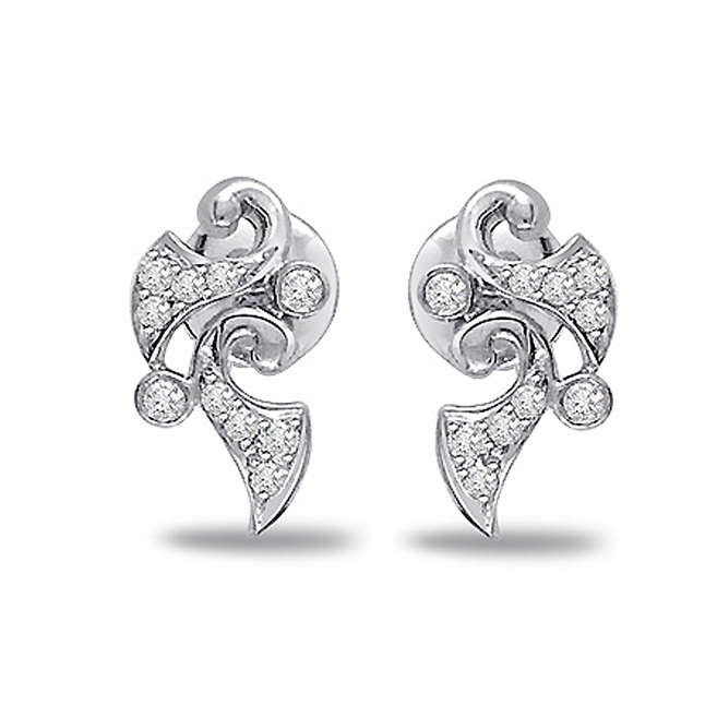 Flower Fascination Diamond Earrings -Designer Earrings