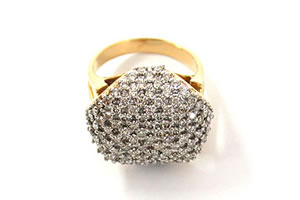 Flower Rmance Fine 1.20 ct Diamond Pave rings -Pave Collection