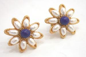 Flower Shape Blue Heaven Earrings SP -83 -ER -Flower Shape Earrings