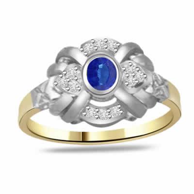 Flower Shape Diamond & Sapphire rings SDR1180