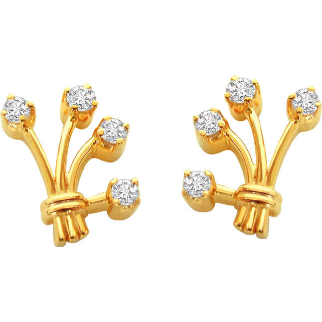 For My Love Real Diamond Earrings -Designer Earrings