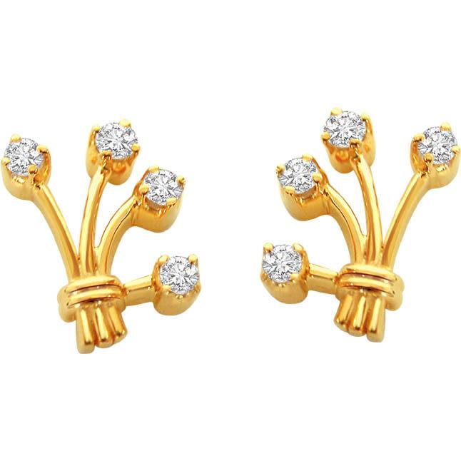 For My Love Real Diamond Earrings -Designer Earrings