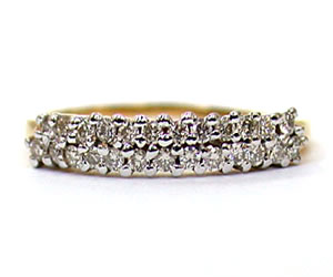 For U & Me 0.27 ct Diamond Eternity rings -2 Tone Half Eternity