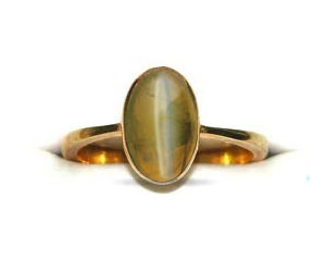 Fortune In Your Fingers -6.25ct Cats Eye Stone rings in 18k Gold -Navratna+Gemstone