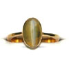 Fortune In Your Fingers -1.00ct Cats Eye Stone rings in 18k Gold -Navratna+Gemstone