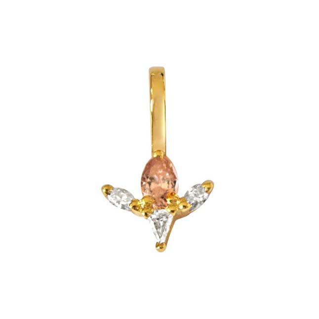 Pear, Triangle & Marquise Diamond Pendants in 18kt Gold -Designer Pendants
