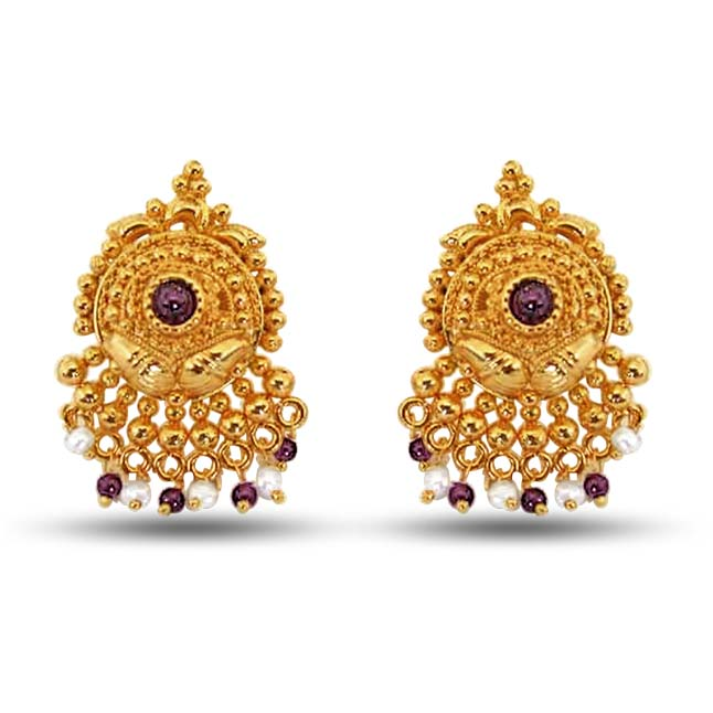 Garnet Grace Earrings