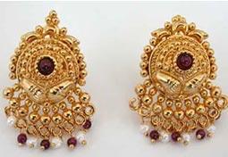 Garnet Grace Earrings