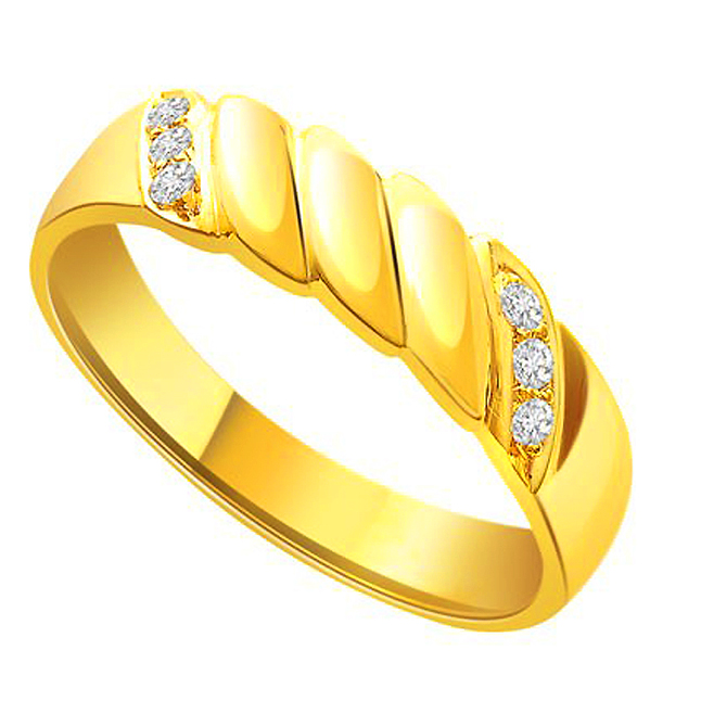 S -247 Glassy Gold Diamond rings