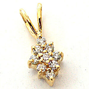 Glossy Delicate Diamond & Gold Pendants -Designer Pendants