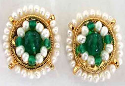 Glowing Green Onyx Earrings -Pres.Stone Earrings