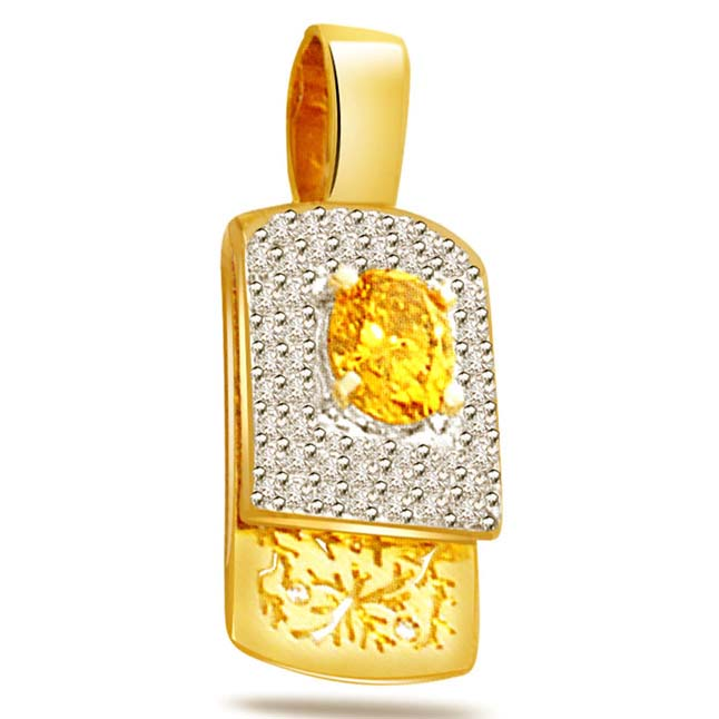 Gold Galore -0.35ct Diamond Gold Pendants