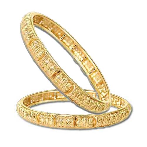 Gold Plated Kada's -GPK2 -Bangles -Bracelets