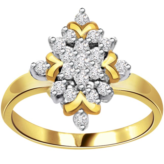 Golden Eclipse Classic 1.00 ct Flower Shape Diamond rings