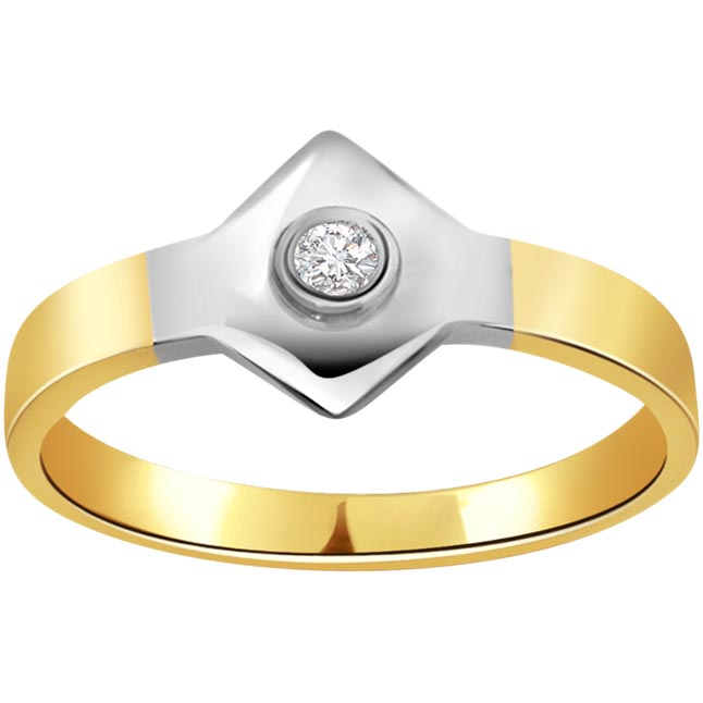 Golden Finger 0.10 ct Diamond Solitaire rings