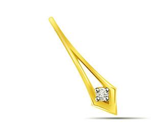 Golden Spark -0.05 cts Diamond Pendants -Solitaire