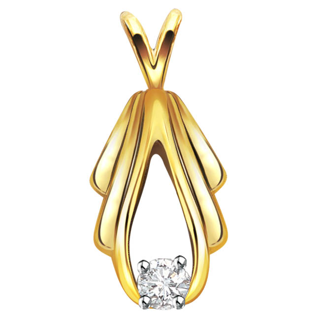 Golden Sparks 0.07 ct Diamond Solitaire Pendants P354 -Solitaire