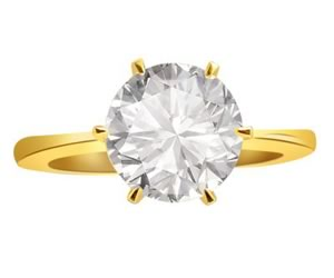 Golden Sunrise 0.15 cts Diamond Solitaire rings -18k Engagement rings