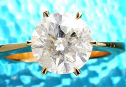 0.15cts L/M / SI1 Solitaire Diamond  6 Prong Ring in 18K Gold