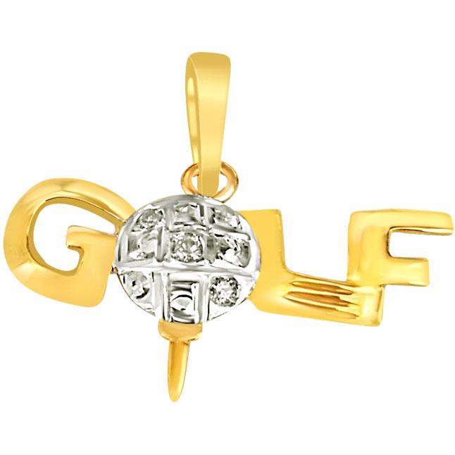 Diamond & Silver Golf Pendants -Sport Collection