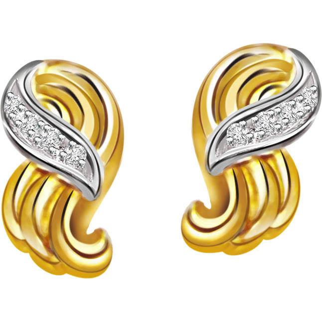 Graceful Girl ER87 -Two Tone Earrings