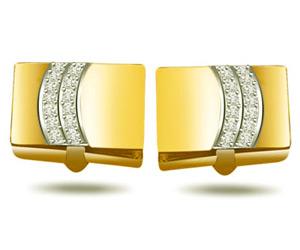 Greek God -0.50ct VS Diamond Gold Cufflinks -Cufflinks
