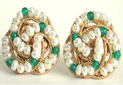 Green Fairy Queen Earrings