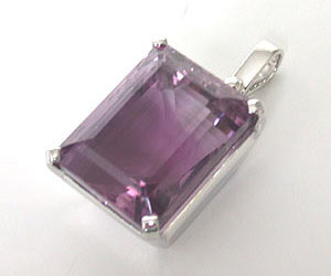 59ct Amethyst Solitaire Pendants -Gemstone Pendants