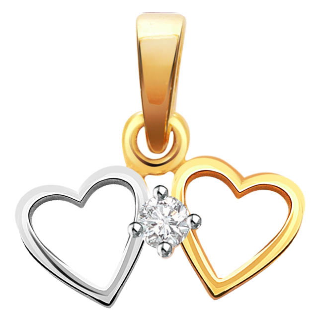 Heart of Silver -diamond Pendants| Surat Diamond Jewelry