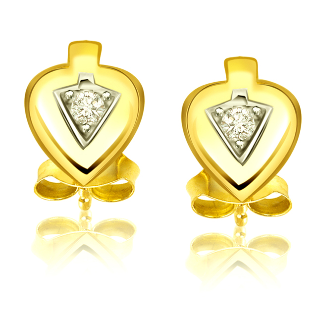 Heart to Heart -Solitaire Earrings