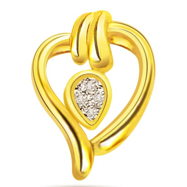 Heart Goddess 0.05ct Diamond Pendants P360