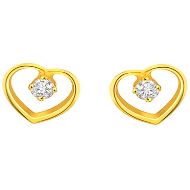 Heart Home Diamond Earrings -Heart Shape Earrings