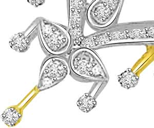 Heart of Ocean 0.56ct Heart Shape Two Tone Diamond Mangalsutra Pendants