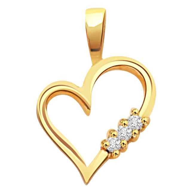 Hearts n Hearts -hearts diamond Pendants  Surat Diamond Jewelry