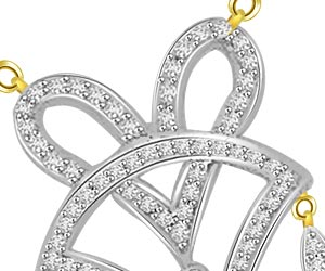 Hearts & Triangles 0.70ct Trendy Diamond Pendants